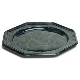 Dessous d'assiette Plastique Octogonal Marbré 30 cm (5 Utés)