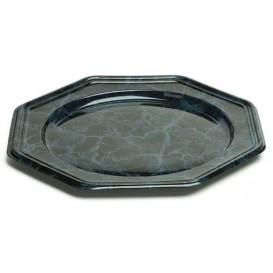 Plastic oplader bord PET Achthoekig marmer Vein 30 cm (50 stuks)