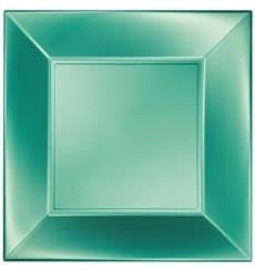 Assiette Plastique Plate Vert Nice Pearl PP 230mm (300 Utés)