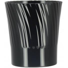 Plastic Proeving beker zwart 165ml (12 stuks)