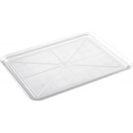Plastic dienblad transparant 37x50cm (24 stuks)