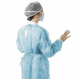 Blouse PP Bleu Fermeture Dorsal à Ruban XL (10 Utés)