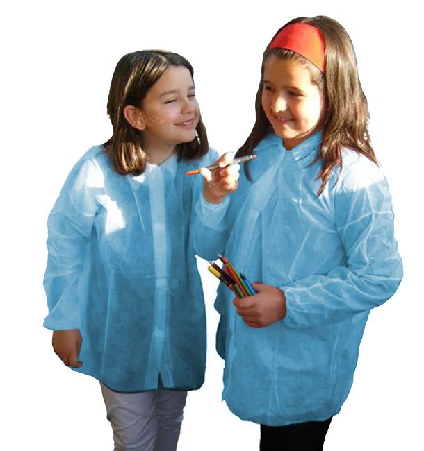 Blouse Enfant PP Bleu Velcro et Sans Poches (1 Uté)