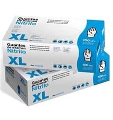 Gants Nitrile sans Poudre Bleu Taille XL 3,5g (100 Utés)
