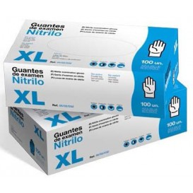 Gants Nitrile sans Poudre Bleu Taille XL 3,5g (1000 Utés)