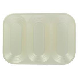"""Plastic Compartment dienblad """"X-Table"""" 3C parel 33x23cm (2 stuks)"""