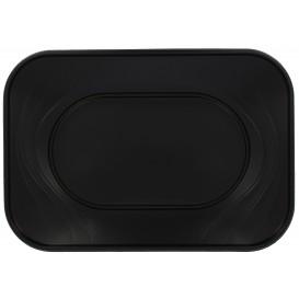 """Plateau Plastique PP """"X-Table"""" Noir 330x230mm (2 Utés)"""
