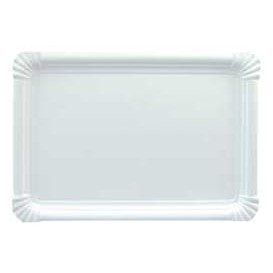 Plat rectangulaire en Carton Blanc 22x28 cm (300 Utés)