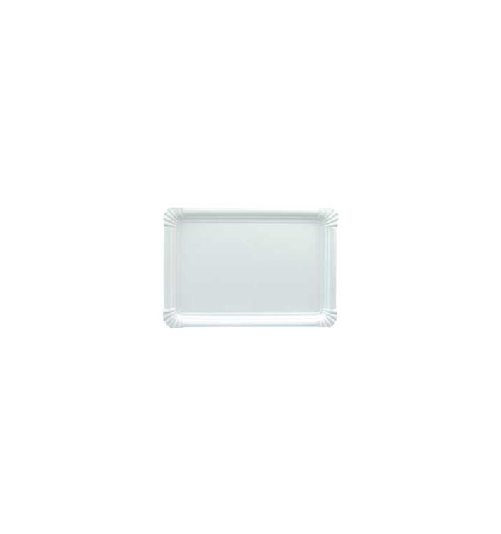 Plat rectangulaire en Carton Blanc 25x34 cm (100 Utés)