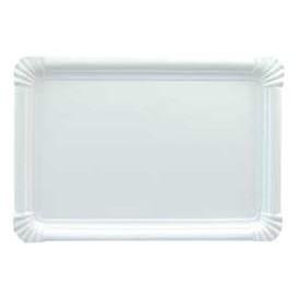 Plat rectangulaire en Carton Blanc 25x34 cm (200 Utés)