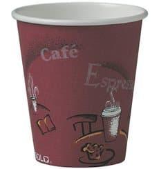 """Gobelet Carton 6oz/180ml Café """"Bistro"""" Ø7,0cm (50 Utés)"""