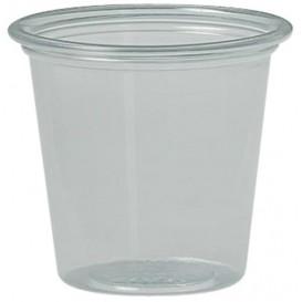 Pot à Sauce Plastique rPET Cristal 37ml Ø4,8cm (250 Utés)