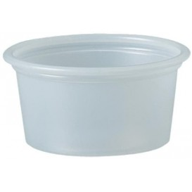 Pot à Sauce Plastique PS Trans. 22ml Ø4,8cm (250 Utés)