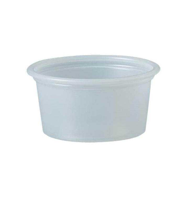 Pot à Sauce Plastique PS Trans. 22ml Ø4,8cm (250 Utés)