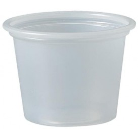 Pot à Sauce Plastique PS Trans. 30ml Ø4,8cm (250 Utés)