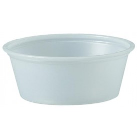 Pot à Sauce Plastique PS Trans. 44ml Ø6,6cm (250 Utés)