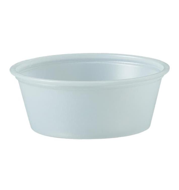 Pot à Sauce Plastique PS Trans. 44ml Ø6,6cm (2500 Utés)