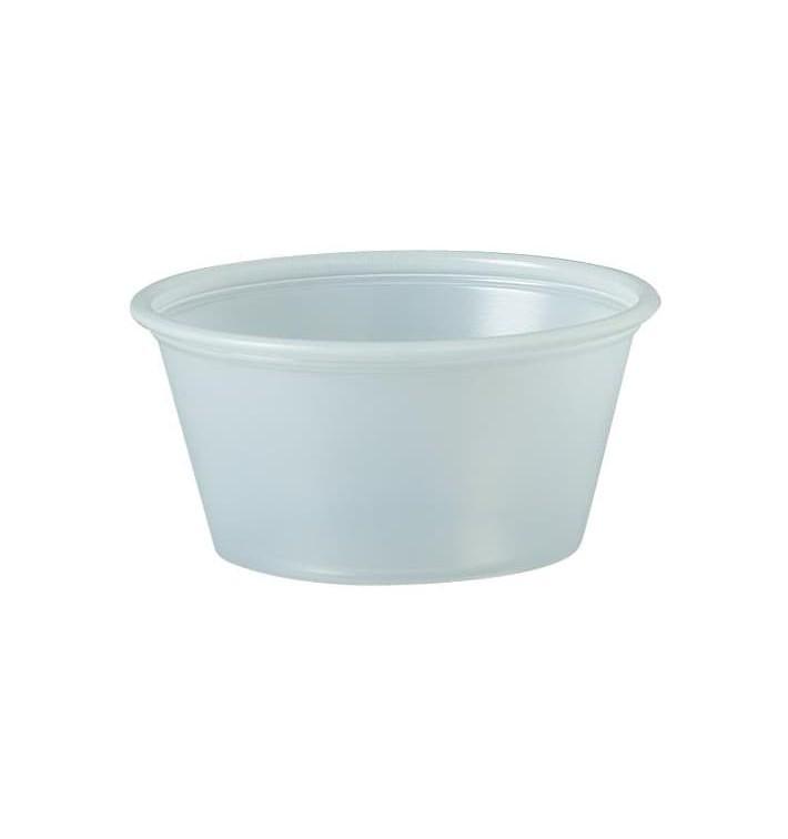 Pot à Sauce Plastique PS Trans. 60ml Ø6,6cm (2500 Utés)