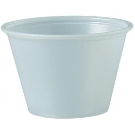Pot à Sauce Plastique PS Trans. 75ml Ø6,6cm (250 Utés)