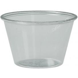 Plastic souffle beker PS transparant 120ml Ø7,3cm (250 stuks)