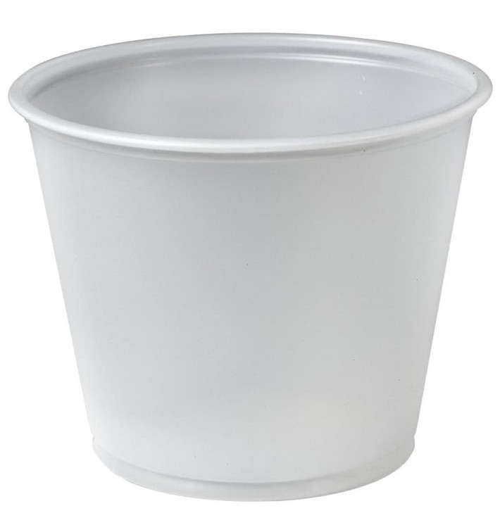 Pot à Sauce Plastique PS Trans. 165ml Ø7,3cm (250 Utés)
