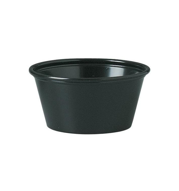 Pot à Sauce Plastique PS Noir 60ml Ø6,6cm (250 Utés)
