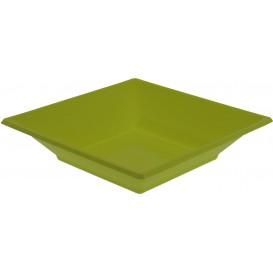Assiette Plastique Creuse Carrée Pistache 170mm (5 Unités)