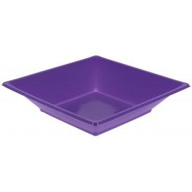 Assiette Plastique Creuse Carrée Lilas 170mm (5 Unités)