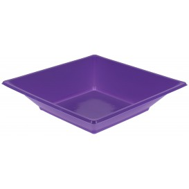 Assiette Plastique Creuse Carrée Lilas 170mm (300 Unités)