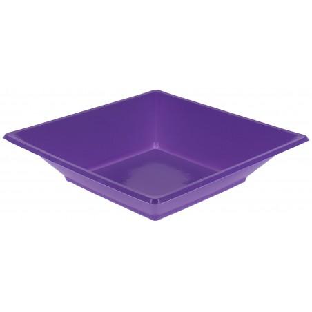 Assiette Plastique Creuse Carrée Lilas 170mm (750 Unités)