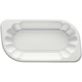 Plastic dienblad wit 17,5x9,5x4cm 300ml (250 stuks)