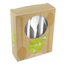 Cuillère Biodegradable PLA Blanc 155mm (500 Unités)