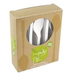 Cuillère Biodegradable CPLA Blanc 155mm en boîte (500 Utés)