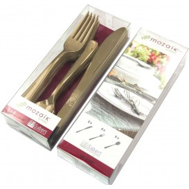 Kit Couverts Fourchette, Couteau, Cuillère Doré (10 Kits)