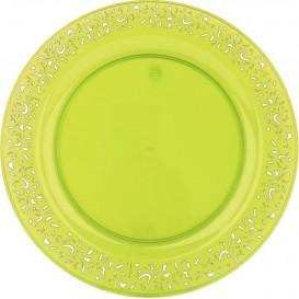 "Plastic bord Rond vormig ""Lace"" groen 19cm (88 stuks)"