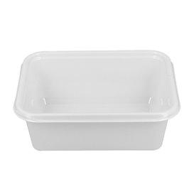 Plastic dienblad wit 12,7x9,1x4,2cm 300ml (100 stuks)