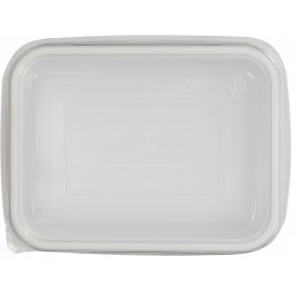 Plastic Deksel voor dienblad transparant 12,7x9,1x4,2cm (1000 stuks)