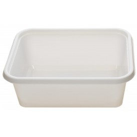 Plastic dienblad wit 12,7x9,1x4,2cm 300ml (1000 stuks)