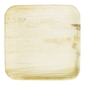 Assiette carrée en Feuilles de Palmier 18x18cm (25 Unités)