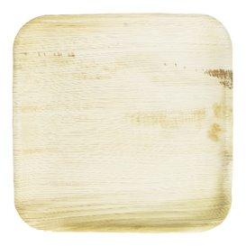 Assiette carrée en Feuilles de Palmier 24x24cm (200 Unités)