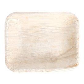 Palm blad dienblad Rechthoekige vorm 16x12,5x3cm (25 stuks)