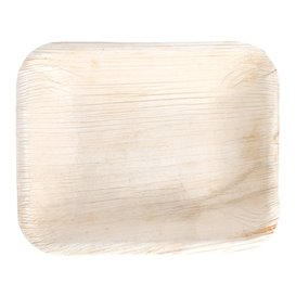 Palm blad dienblad Rechthoekige vorm 16x12,5x3cm (200 stuks)