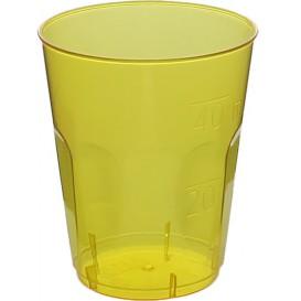 "Plastic PS Shotje Kristal ""Diamant"" geel 50ml (600 stuks)"