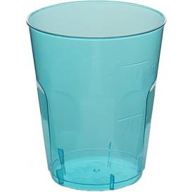 "Plastic PS Shotje Kristal ""Diamant"" blauw 50ml (20 stuks)"