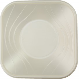 "Plastic Kom PP Vierkant ""X-Table"" parel 18x18cm (120 stuks)"