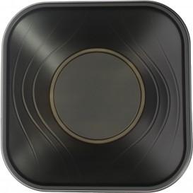 """Bol Plastique PP Carré """"X-Table"""" Noir 18x18cm (8 Utés)"""