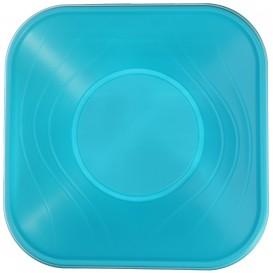 """Bol Plastique PP Carré """"X-Table"""" Tuquoise 18x18cm (8 Utés)"""
