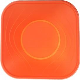 """Plastic Kom PP Vierkant """"X-Table"""" oranje 18x18cm (8 stuks)"""