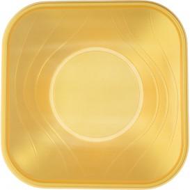 "Plastic Kom PP Vierkant ""X-Table"" goud 18x18cm (8 stuks)"