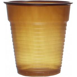 Plastic PS beker Vending bruin 166ml Ø7,0cm (100 stuks)